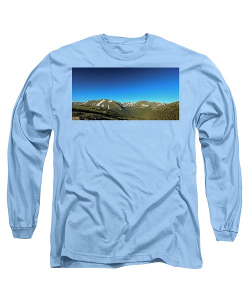 Blue Skys Over The Rockies Long Sleeve T-Shirt