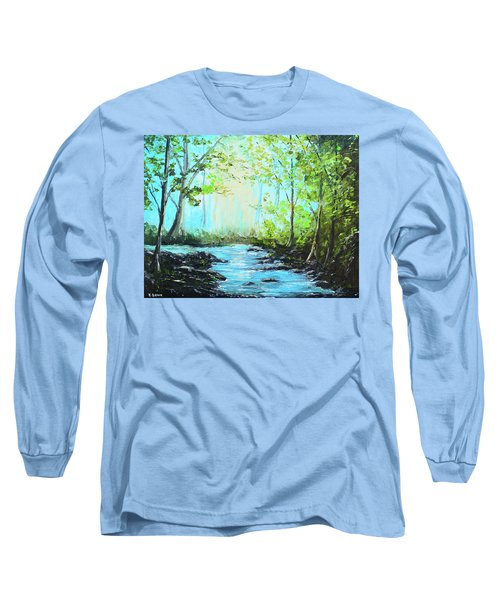 Blue Stream Long Sleeve T-Shirt