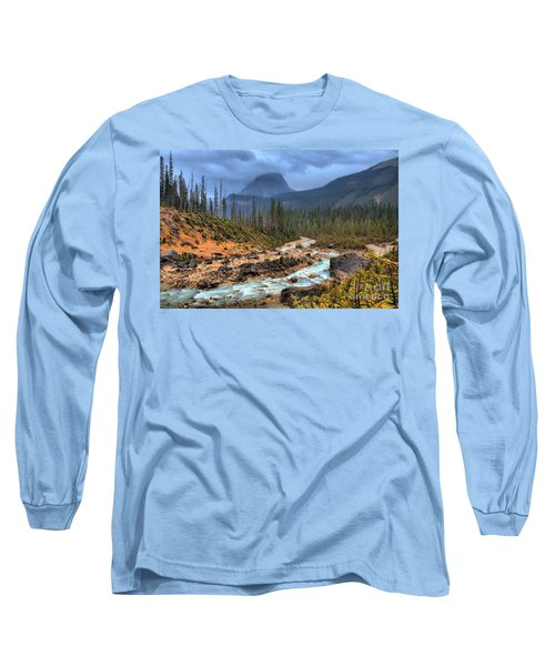 Long Sleeve T-Shirt featuring the photograph Blue Through The Yoho Valley by Adam Jewell