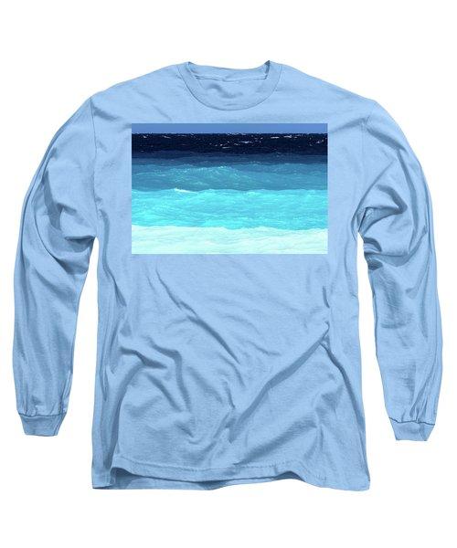 Blue Tones Of Ionian Sea Long Sleeve T-Shirt
