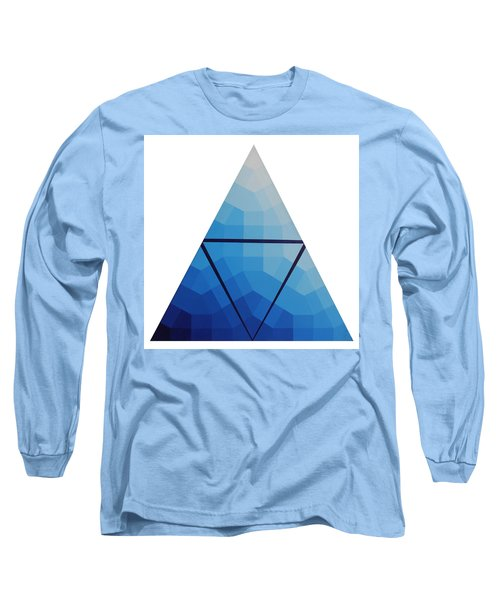 Blue Triangle - Wave Of Blue - Image #10 Long Sleeve T-Shirt by Peter Mooyman