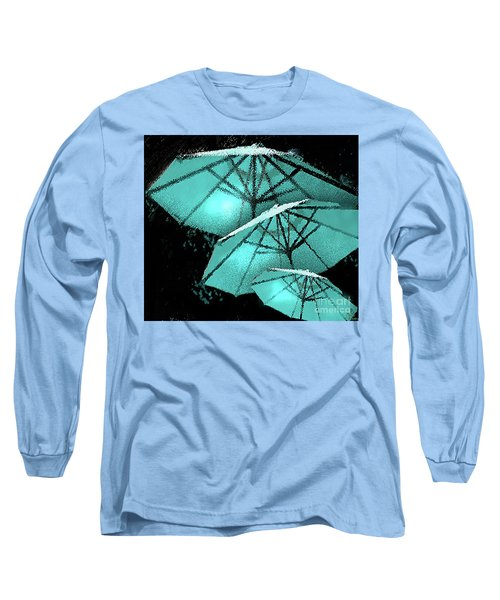 Blue Umbrella Splash Long Sleeve T-Shirt