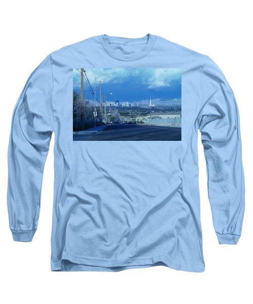 Blue Vegas Long Sleeve T-Shirt