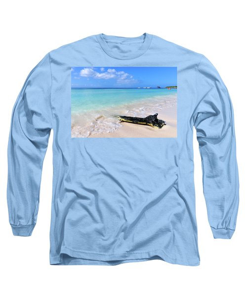 Blue Water And White Sand Long Sleeve T-Shirt