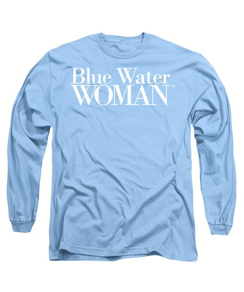 Blue Water Woman White Logo Long Sleeve T-Shirt
