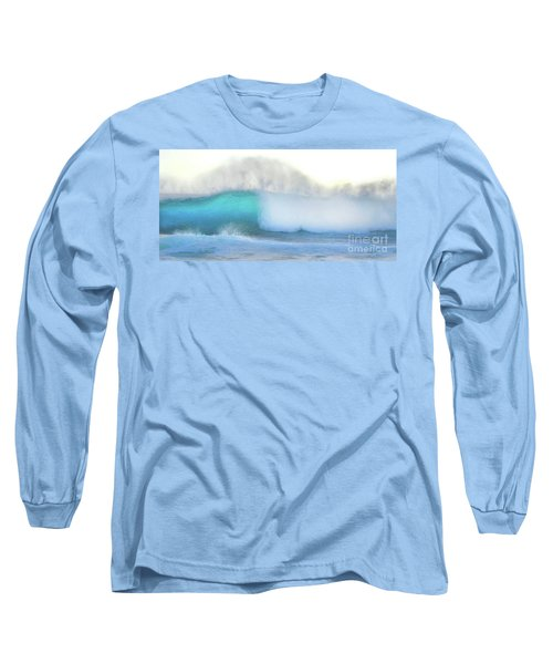 Blue Wave Long Sleeve T-Shirt by Kristine Merc