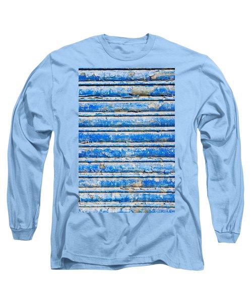 Blue Weathered Metal  Long Sleeve T-Shirt