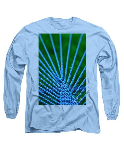 Blue Weave Long Sleeve T-Shirt