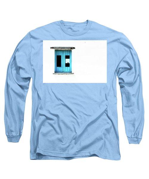 Long Sleeve T-Shirt featuring the photograph Blue Window by Edgar Laureano