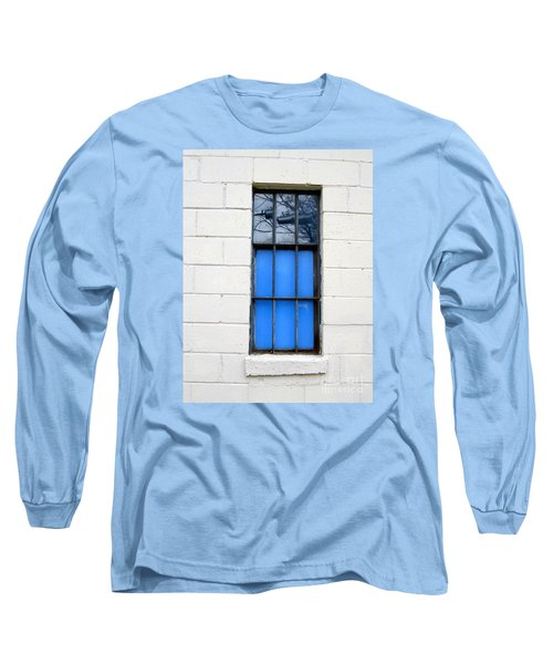 Blue Window Panes Long Sleeve T-Shirt