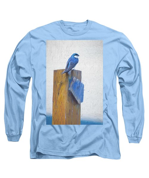 Long Sleeve T-Shirt featuring the photograph Bluebird by James BO Insogna