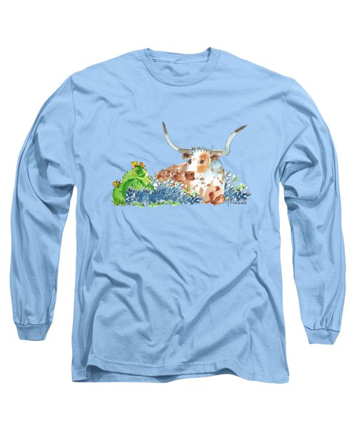 Bluebonnets Cactus And Bessie Long Sleeve T-Shirt