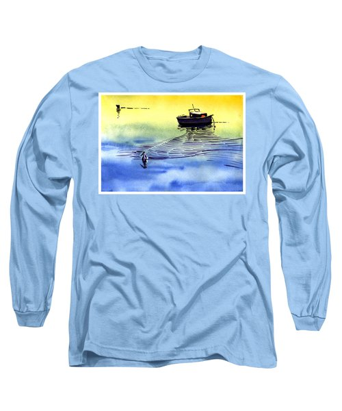 Boat And The Seagull Long Sleeve T-Shirt