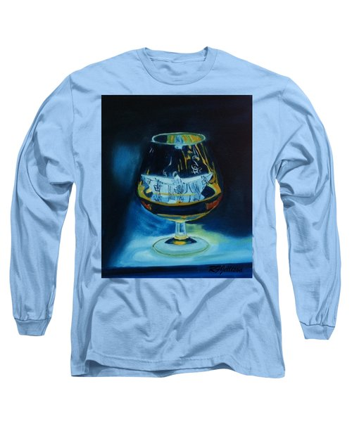 Long Sleeve T-Shirt featuring the painting Boat In A Glass by Rod Jellison