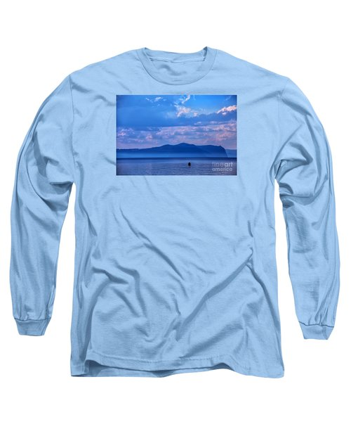 Boat In Lake Long Sleeve T-Shirt