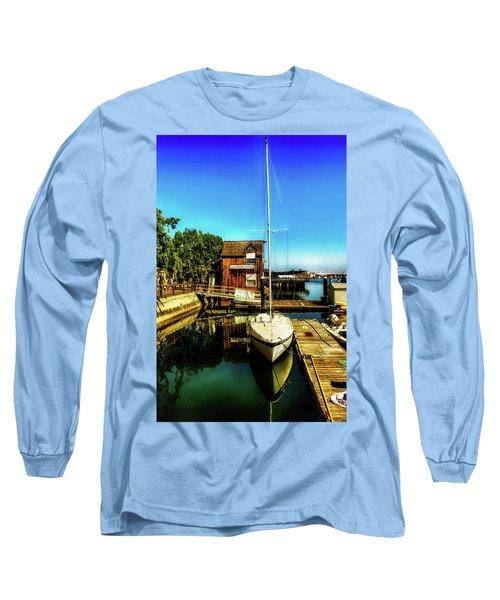 Boat Landing P O C Long Sleeve T-Shirt by Joseph Hollingsworth