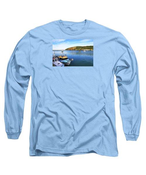 Long Sleeve T-Shirt featuring the photograph Boats At Friendly Bay by Nareeta Martin