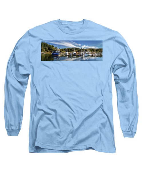Long Sleeve T-Shirt featuring the photograph Boats In Winchester Bay by James Eddy