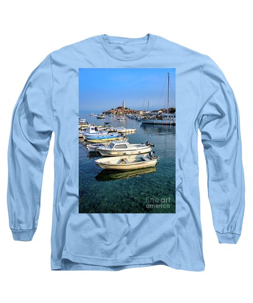 Boats Of The Adriatic, Rovinj, Istria, Croatia  Long Sleeve T-Shirt