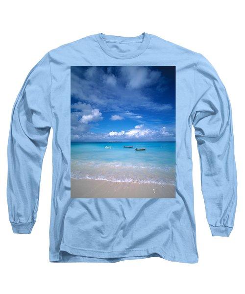 Boats Tropical Caribbean Sea Antilles Long Sleeve T-Shirt