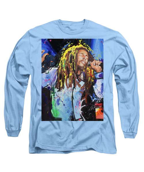Bob Marley Long Sleeve T-Shirt by Richard Day