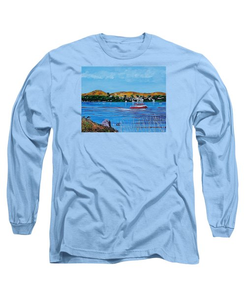 Bodega Bay From Campbell Cove Long Sleeve T-Shirt by Mike Caitham