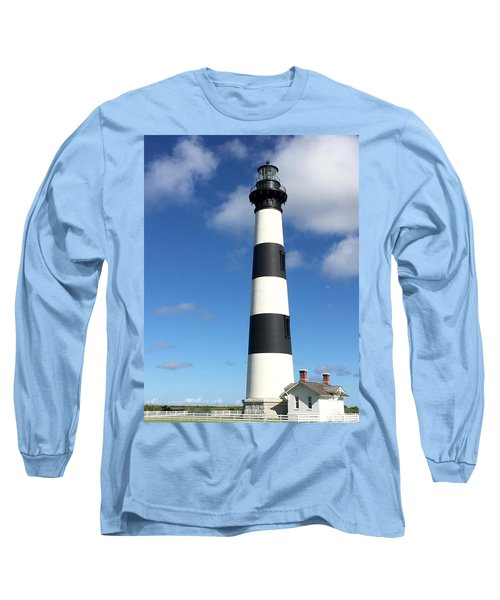 Bodie Island Lighthouse Cape Hatteras Long Sleeve T-Shirt by Dorothy Maier