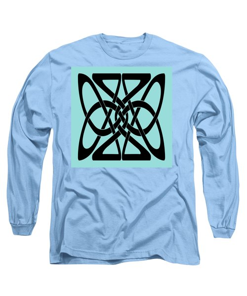 Long Sleeve T-Shirt featuring the digital art Bold Black Celtic Knot by Jane McIlroy