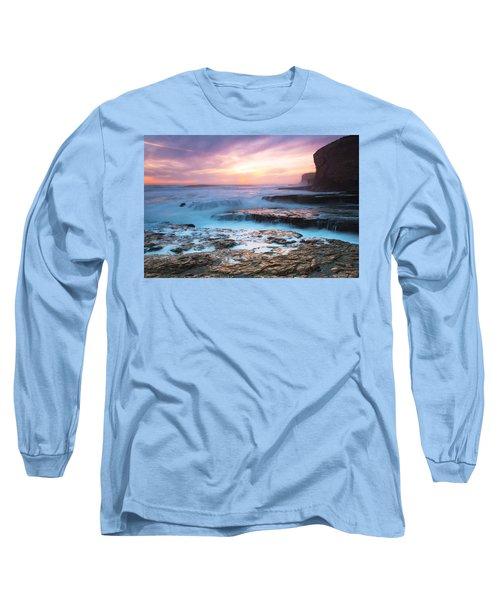Long Sleeve T-Shirt featuring the photograph Bonny Doon Beach by Catherine Lau