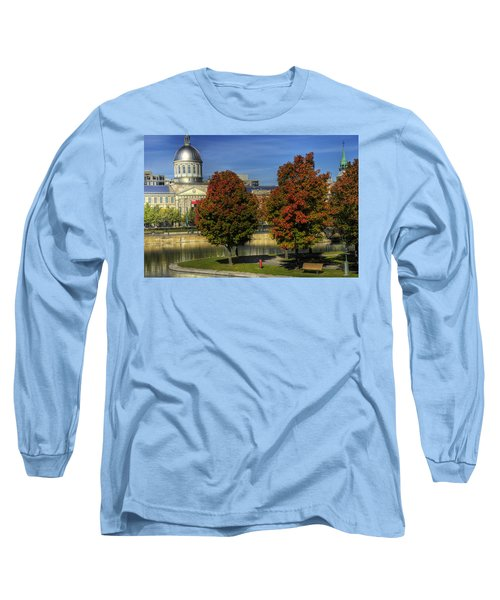 Bonsecours Market Long Sleeve T-Shirt by Nicola Nobile