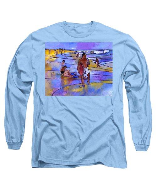 Boogieboarding At Sandy's Long Sleeve T-Shirt