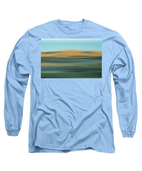 Long Sleeve T-Shirt featuring the mixed media Book Cliffs by Shara Weber