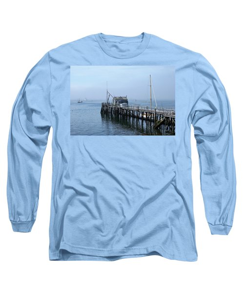 Boothbay Shipyard Dock Long Sleeve T-Shirt