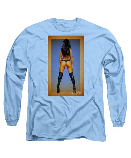 Long Sleeve T-Shirt featuring the drawing Booty by Brian Gibbs