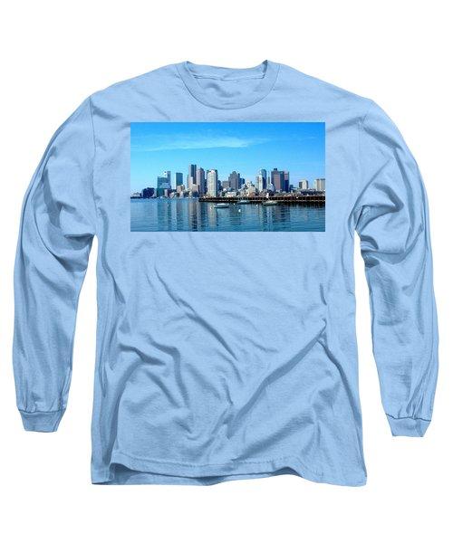 Boston Skyline A Long Sleeve T-Shirt