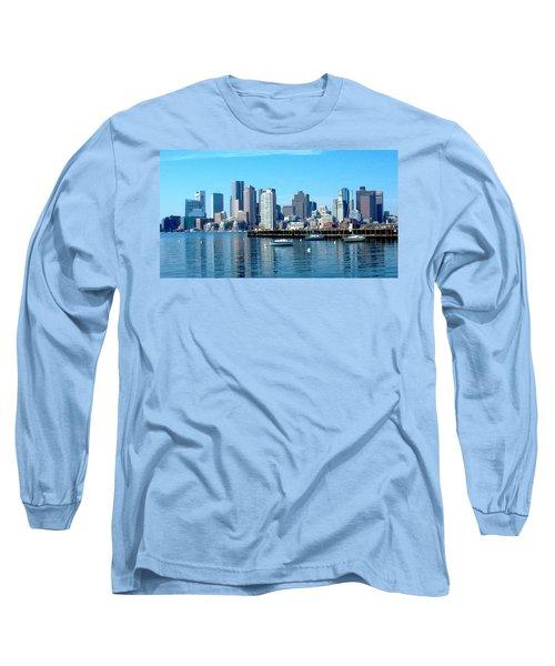 Boston Skyline B Long Sleeve T-Shirt