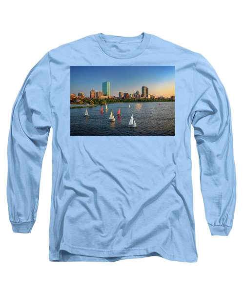 Boston Skyline Summer 2018 Long Sleeve T-Shirt