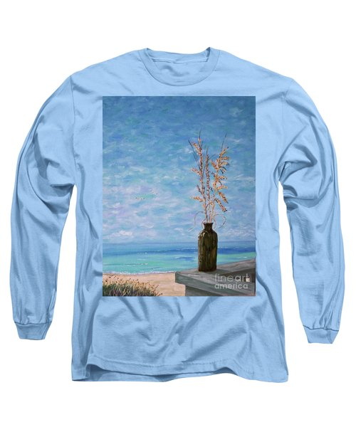 Bottle And Sea Oats Long Sleeve T-Shirt