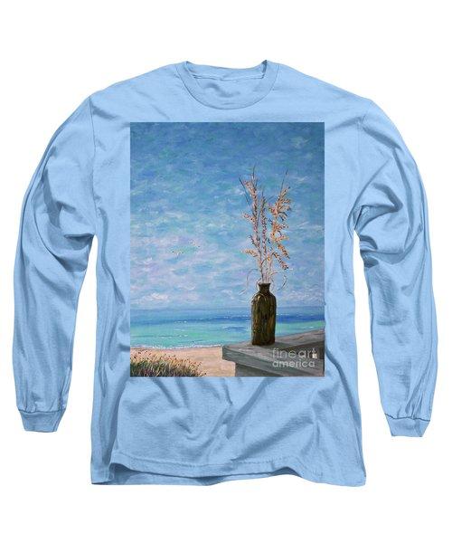 Bottle And Sea Oats Long Sleeve T-Shirt