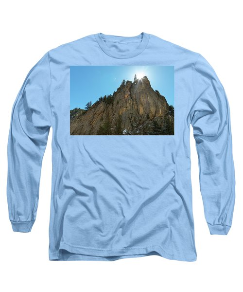Long Sleeve T-Shirt featuring the photograph Boulder Canyon Narrows Pinnacle by James BO Insogna