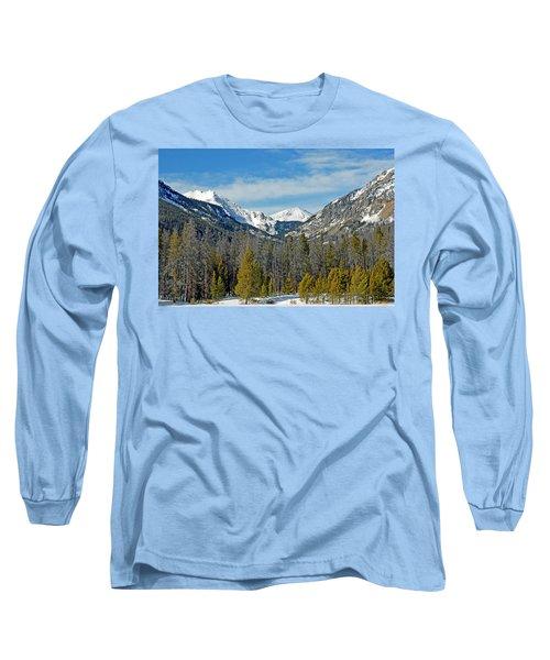 Bowen Mountain In Winter Long Sleeve T-Shirt