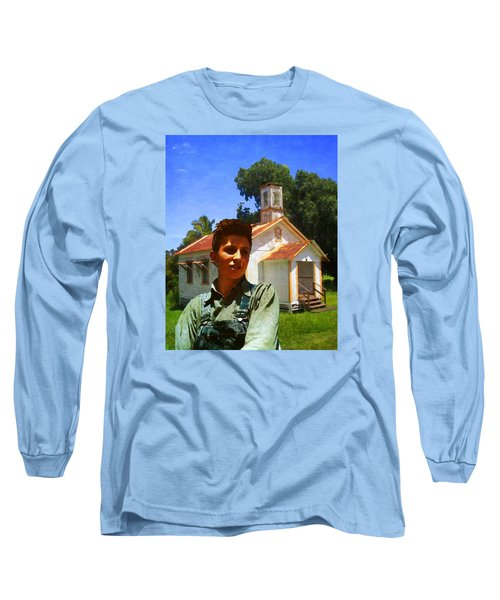 Boy And Church Long Sleeve T-Shirt