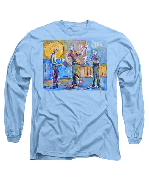 Boys Night Out Long Sleeve T-Shirt by Mary Schiros