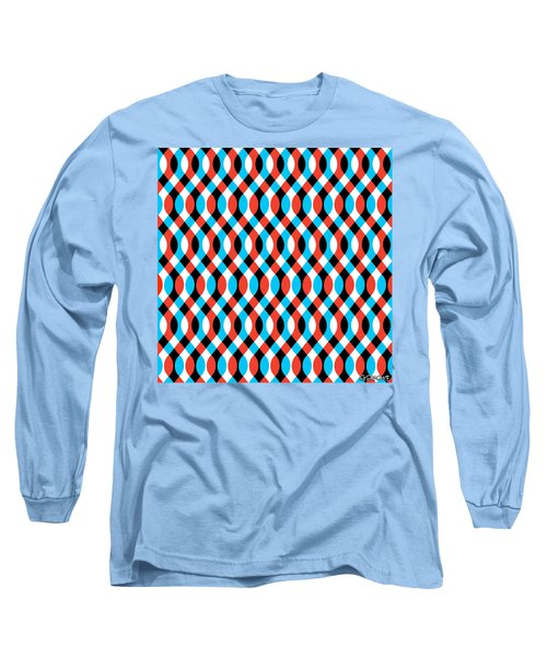Brain Waves - Blue Long Sleeve T-Shirt