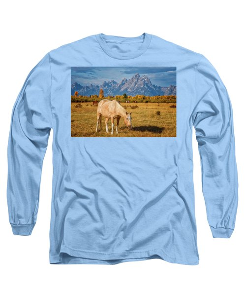 Breakfast In The Tetons Long Sleeve T-Shirt