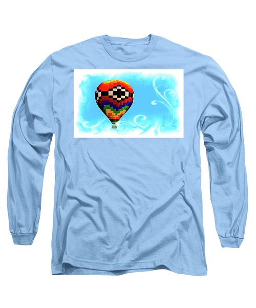 Long Sleeve T-Shirt featuring the digital art Breezy by Gary Baird