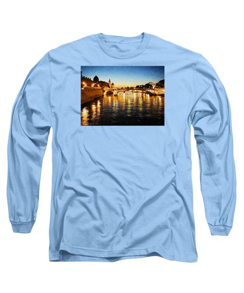 Bridge Over The Seine Long Sleeve T-Shirt