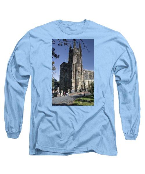 Bridlington Priory Long Sleeve T-Shirt by David  Hollingworth