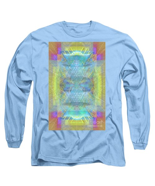 Bright Chalice Ancient Symbol Tapestry Long Sleeve T-Shirt