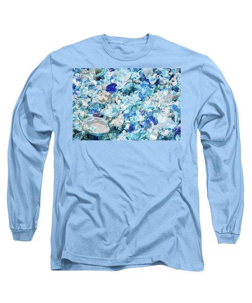 Broken Glass Blue Long Sleeve T-Shirt